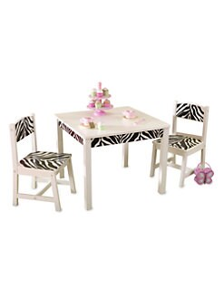 KidKraft - Fun & Funky Table & 2-Chair Set