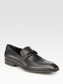 Salvatore Ferragamo - Crown Calfskin Moccasins