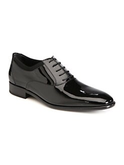 Salvatore Ferragamo - Aiden Patent Leather Lace-Up Shoes
