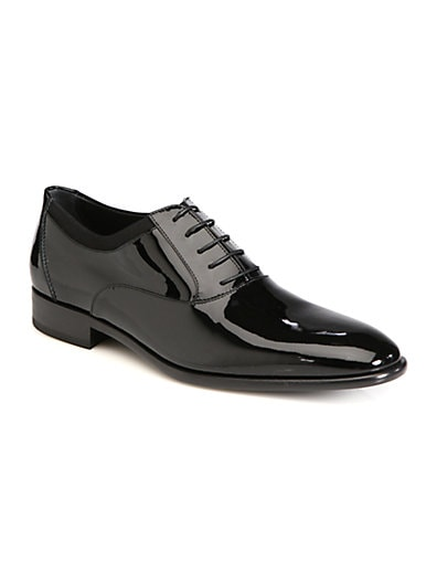 Aiden Patent Leather Lace-Up Shoes