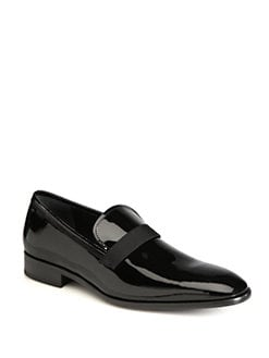 Salvatore Ferragamo - Antoane Patent Leather Slip-Ons