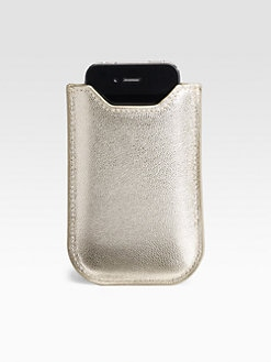 Graphic Image - Metallic Leather Sleeve For iPhone 4/4s