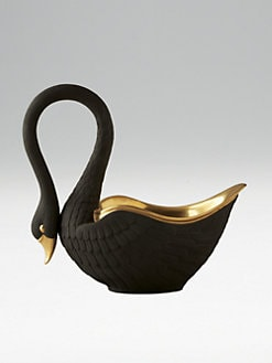 L'Objet - Black Porcelain Swan