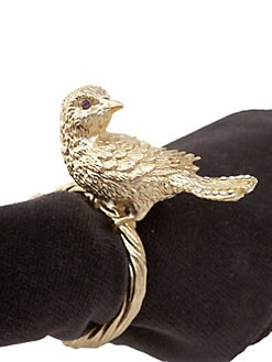 L'Objet - Set of 4 Bird Napkin Rings