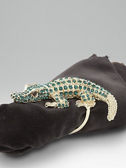 L'Objet - Set of 4 Crocodile Napkin Rings