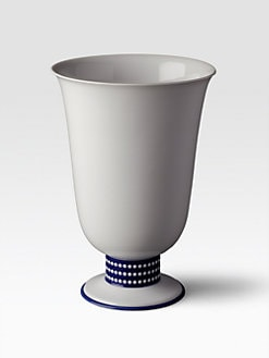 L'Objet - Perlee Bleu Footed Vase