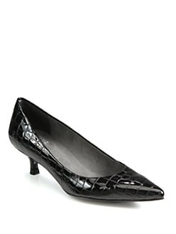 Stuart Weitzman - Poco Patent Leather Pumps