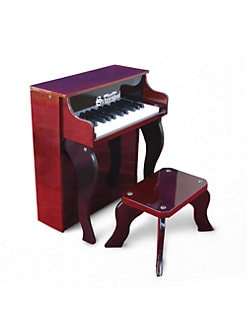 Schoenhut Piano - Kid's Elite Spinet Piano & Bench/Mahogany