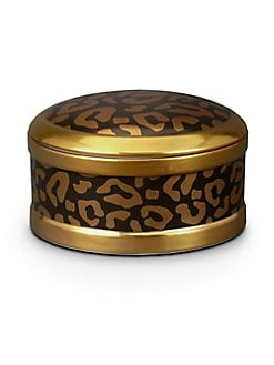 L'Objet - Leopard Print Round Box