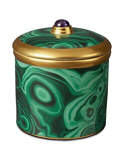 L'Objet - Porcelain Candle/Malachite