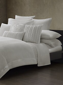 Natori - Ming Fretwork Duvet Cover/White