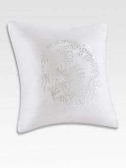 Natori - Ming Fretwork Euro Pillow/White