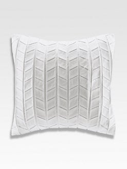 Natori - Ming Fretwork Square Pillow/White