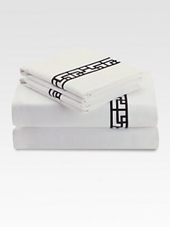 Natori - Ming Fretwork Pillowcases, Set of 2/Black & White
