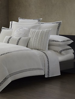 Natori - Ming Fretwork Duvet Cover/Black & White
