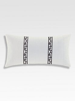 Natori - Ming Fretwork Oblong Pillow/Black & White