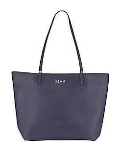 GiGi New York - Personalized Leather Tory Travel Tote