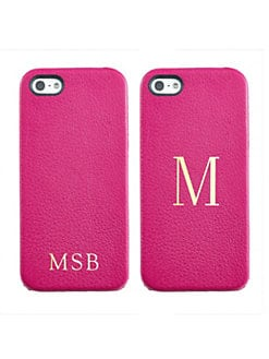 Graphic Image - Personalized Leather iPhone 5 Case