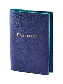 Graphic Image - Leather Passport Holder