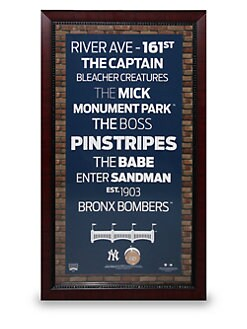 Steiner Sports - New York Yankees Subway Sign Wall Art