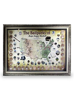 Steiner Sports - Framed Major League Baseball Parks Map
