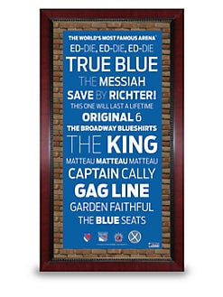 Steiner Sports - Framed New York Rangers Subway Sign