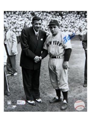 Framed Yogi Berra & Babe Ruth Signed Photo