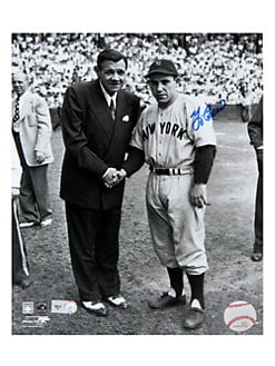 Steiner Sports - Framed Yogi Berra & Babe Ruth Signed Photo