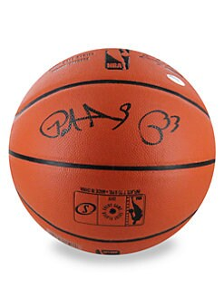 Steiner Sports - Patrick Ewing Signed NBA Basketball with Glass Display Case