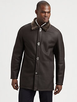 Salvatore Ferragamo - Shearling-Trimmed Leather Coat
