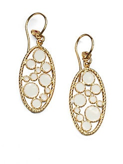 Roberto Coin - Enamel & 18K Gold Drop Earrings