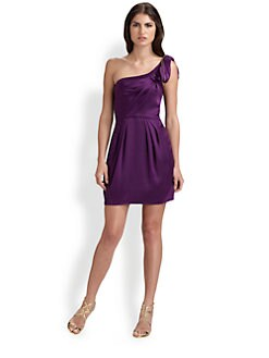 BCBGMAXAZRIA - One-Shoulder Cocktail Mini Dress