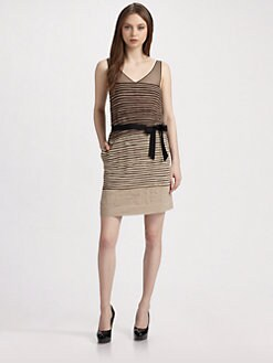 BCBGMAXAZRIA - Tiered Silk Chiffon Dress