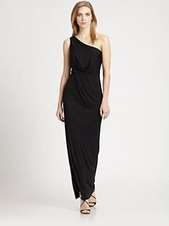 BCBGMAXAZRIA - One-Shoulder Gown