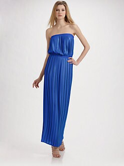 BCBGMAXAZRIA - Mateo Strapless Pleated Dress
