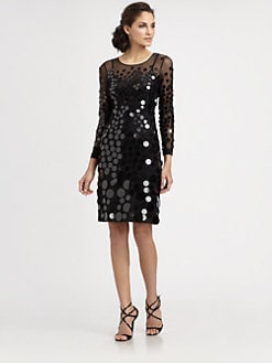 BCBGMAXAZRIA - Ayla Pailette Dress