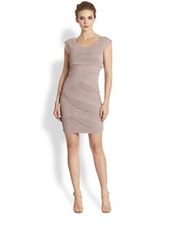 BCBGMAXAZRIA - Briana Mushroom-Pleat Dress