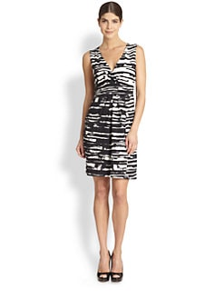 BCBGMAXAZRIA - Beckie Printed Faux-Wrap Dress