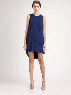 BCBGMAXAZRIA - Asymmetrical Ruffle Dress