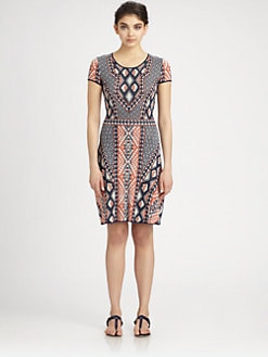 BCBGMAXAZRIA - Printed Knit Dress