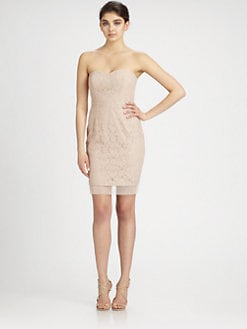BCBGMAXAZRIA - Strapless Lace Dress