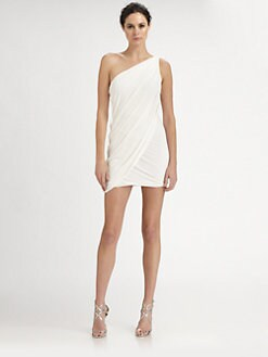 BCBGMAXAZRIA - Draped One-Shoulder Dress