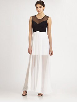 BCBGMAXAZRIA - Layered Chiffon Gown