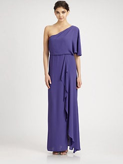 BCBGMAXAZRIA - Ruffled One-Shoulder Gown