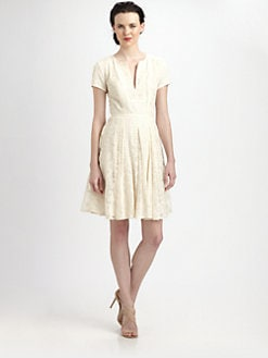 BCBGMAXAZRIA - Kirsten Patchwork Lace Dress