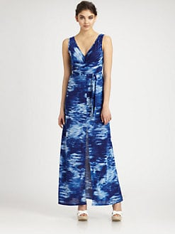 BCBGMAXAZRIA - Printed Knit Maxi Dress