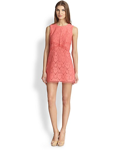 Amelie Tulle-Trimmed Lace Dress
