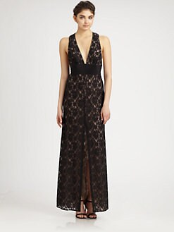 BCBGMAXAZRIA - Lace Gown