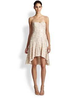 BCBGMAXAZRIA - Bryleigh Strapless Sequined Lace Dress