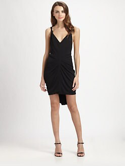 BCBGMAXAZRIA - Terrianne Draped V-Back Dress